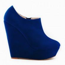 Ankle Boot - Anabela Azul