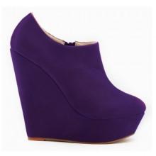Ankle Boot - Anabela Roxa