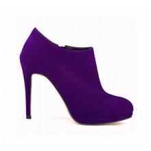 Ankle Boot - Camurça Roxa