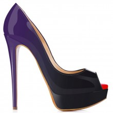 Peep Toe - Degradê Roxo