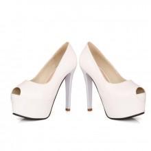 Peep Toe - Verniz Branco