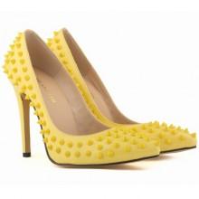 Scarpin - Amarelo com Spikes