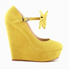 Scarpin - Anabela Amarelo