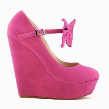 Scarpin - Anabela Pink