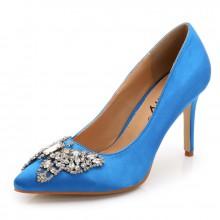Scarpin - Azul com Borboleta
