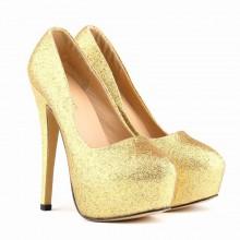Scarpin - Brilhante Dourado
