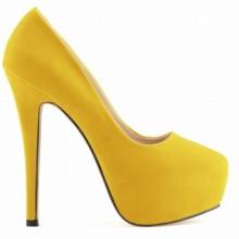 Scarpin - Camurça Amarelo