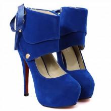 Scarpin - Camurça Azul Royal