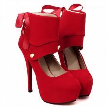Scarpin - Camurça Vermelho