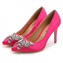Scarpin - Pink com Borboleta