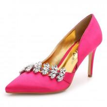 Scarpin - Pink com Folhas de Cristal