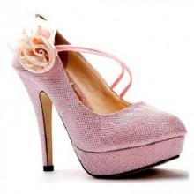 Scarpin - Rosa com Flor