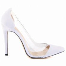 Scarpin - Transparente Branco