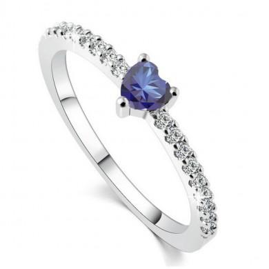 Anel de Coração Azul