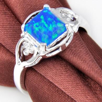 Anel com Opala Azul