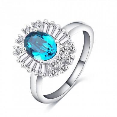 Anel da Princesa Azul Claro