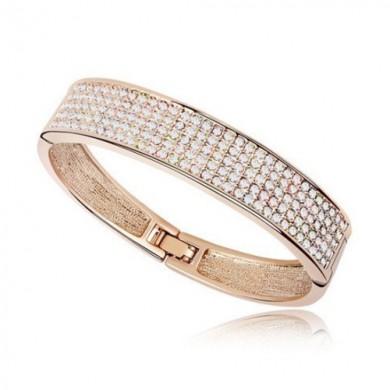 Bracelete Rosê Cravejado de Swarovski