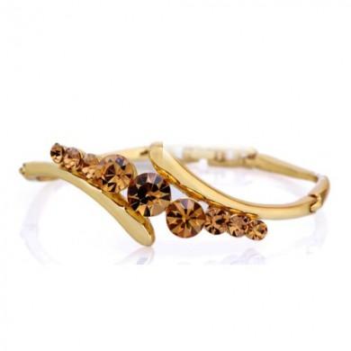 Bracelete com Swarovski Bronze