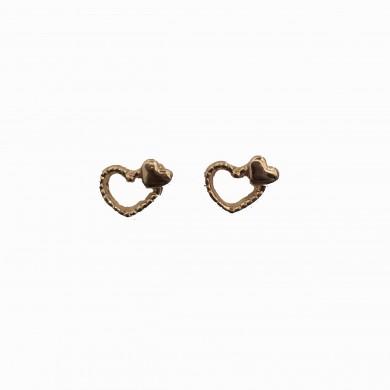 Brincos Dourados de Corações