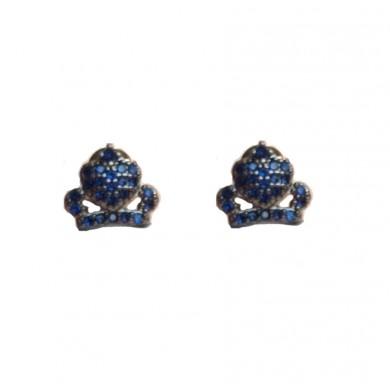 Brincos de Coroas Azuis