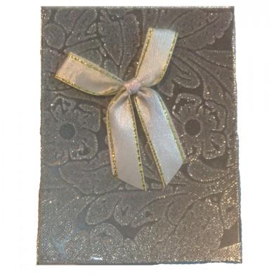Caixa de Presente - Prata com Laço