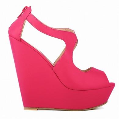 Peep Toe - Anabela Pink