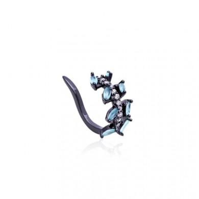 Piercing Falso Navete Azul