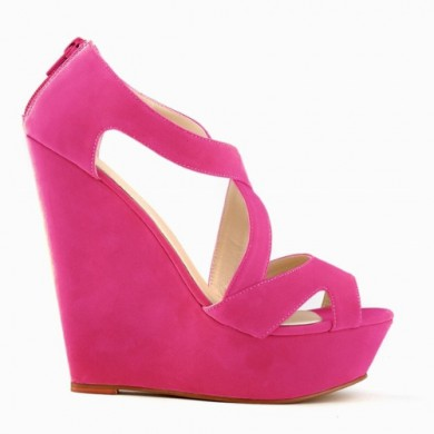 Sandália - Anabela Pink