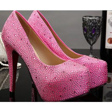 Scarpin - Pink com Cristais