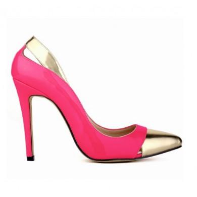 Scarpin - Pink e Dourado