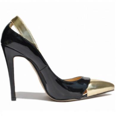 Scarpin - Preto e Dourado