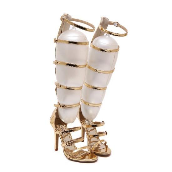 71dac7c763 Sandália - Gladiadora Dourada - Sandálias - Sapatos Importados - Sapatos