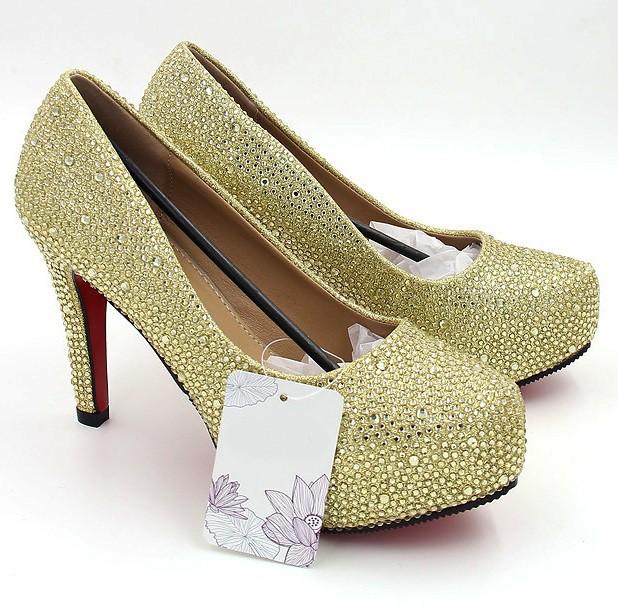 30050594ef Scarpin - Dourado com Cristais - Scarpins - SAPATOS - Especial Noivas