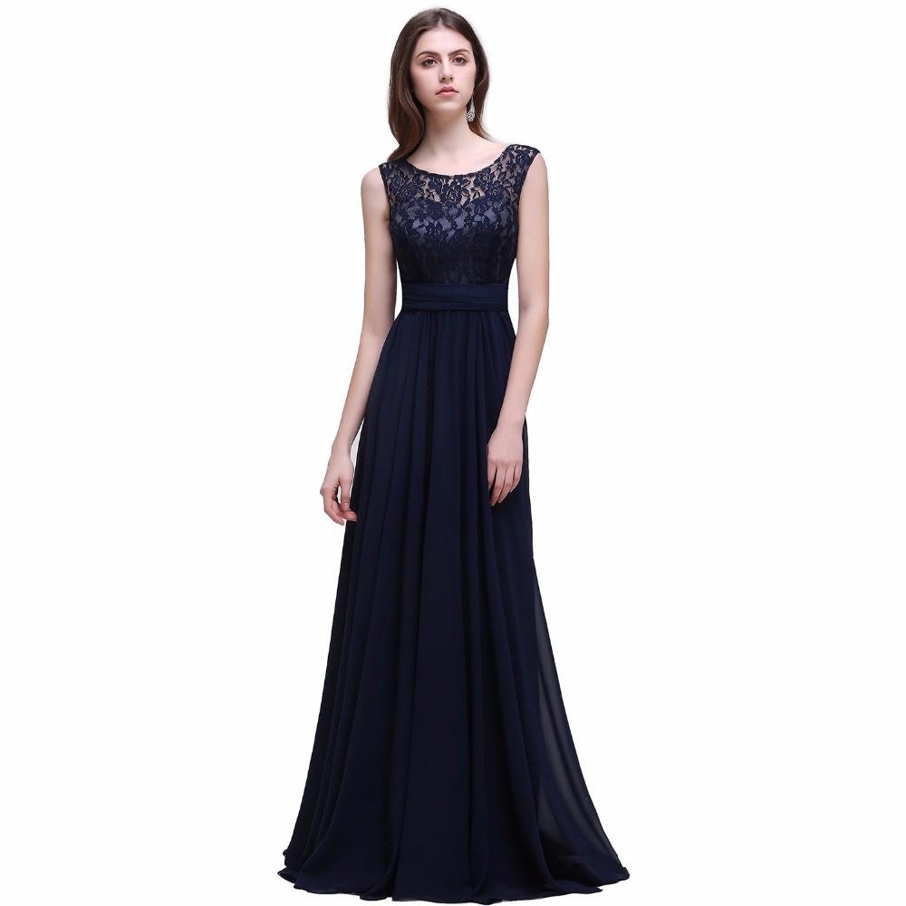 Vestido de noite azul royal
