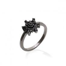 Anel de Flor Negra