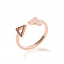 Anel de Triângulos Rosê