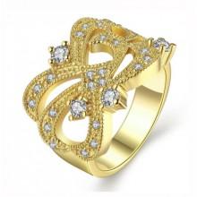 Anel Dourado Luxo