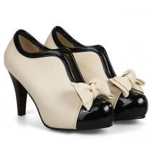 Ankle Boot - Marfim e Preta