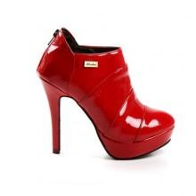 Ankle Boot - Verniz Vermelho