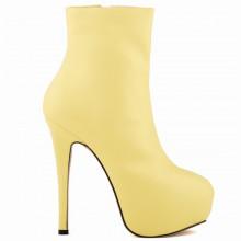 Ankle Boot - Amarela com Meia Pata