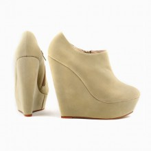 Ankle Boot - Anabela Bege