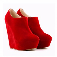 Ankle Boot - Anabela Vermelha