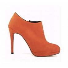 Ankle Boot - Camurça Laranja