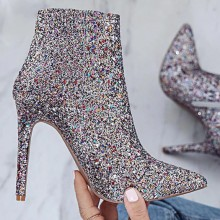 Ankle Boot com Glitter