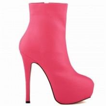 Ankle Boot - Pink com Meia Pata