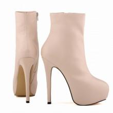 Ankle Boot - Rosa com Meia Pata