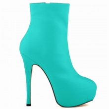 Ankle Boot - Turquesa com Meia Pata