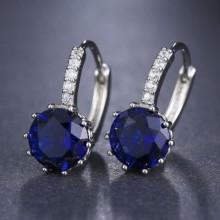 Argolas com Zircônias Azul Royal