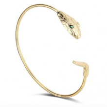 Bracelete Ajustável Dourado de Cobra