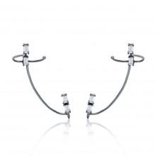 Brincos Ear Hook com Zircônias